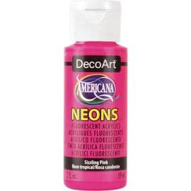 Americana Acrylic Neons - Sizzling Pink - DHS3