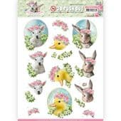 Amy Design 3D Push Out Decoupage - Spring is Here - Baby Animals