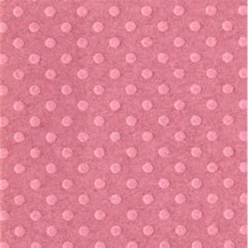 Bazzill Dotted Swiss 12x12 Cardstock - Romantic Mauve