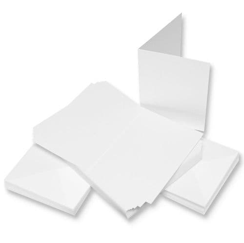 C6 Cards & Envelopes 50 pack - White