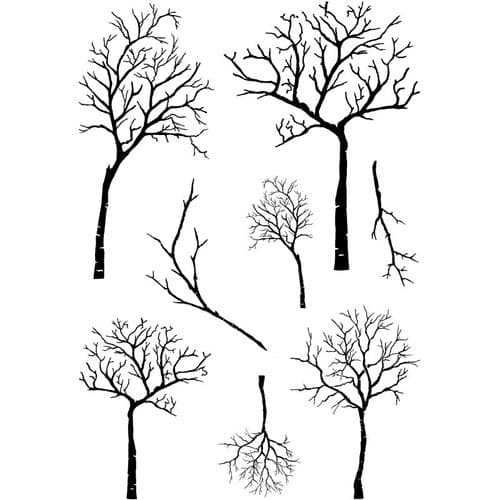 Card-io Combinations A6 Clear Stamp Set - Winter Trees - CDCCSTWIN-10