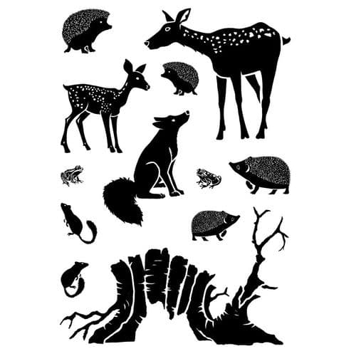 Card-io Combinations A6 Clear Stamp Set - Woodland Retreat
