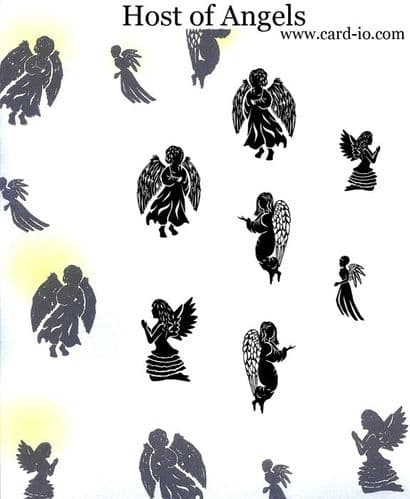 Card-io Majestic Clear Peg Stamp Set - Host of Angels - CDMAHO-02