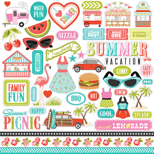 Carta Bella - Element Stickers - Summer Lovin'