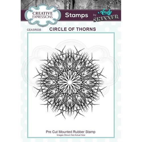 CE Rubber Stamp by Andy Skinner - Circle of Thorns