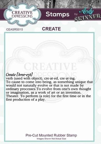 CE Rubber Stamp by Andy Skinner - Create - CEASRS015