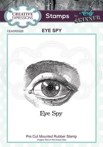 CE Rubber Stamp by Andy Skinner - Eye Spy - CEASRS026