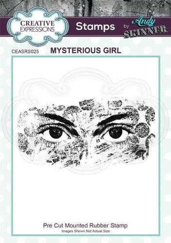 CE Rubber Stamp by Andy Skinner - Mysterious Girl - CEASRS025