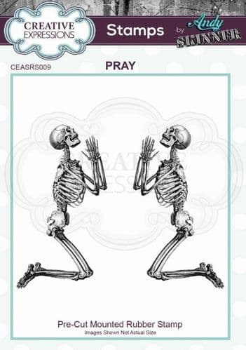 CE Rubber Stamp by Andy Skinner - Pray - CEASRS009