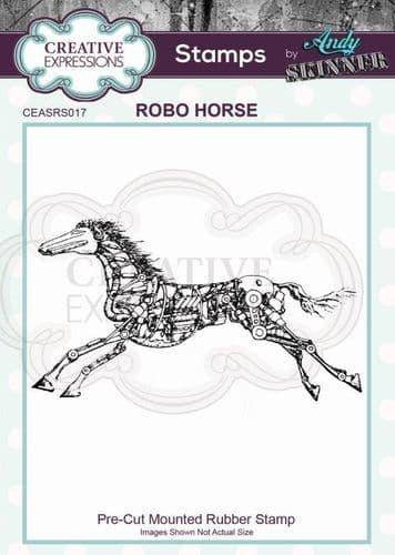 CE Rubber Stamp by Andy Skinner - Robo Horse- CEASRS017