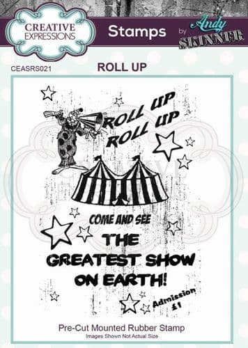 CE Rubber Stamp by Andy Skinner - Roll Up - CEASRS021
