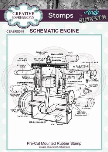 CE Rubber Stamp by Andy Skinner - Schematic Engine - CEASRS019