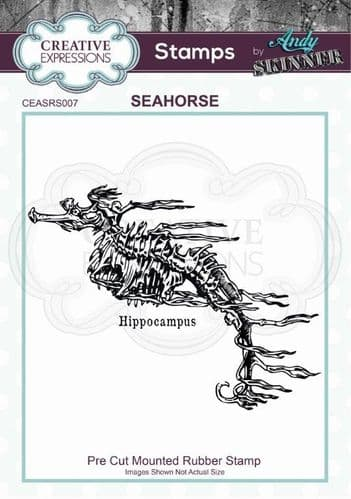 CE Rubber Stamp by Andy Skinner - Seahorse