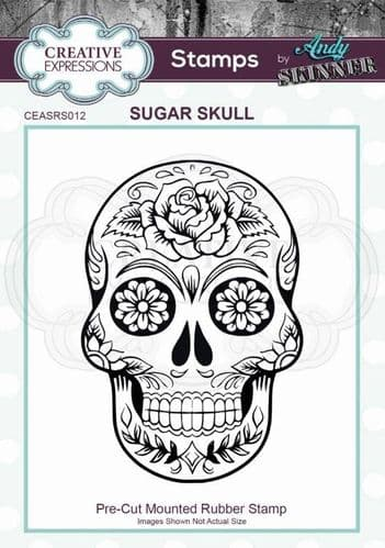 CE Rubber Stamp by Andy Skinner - Sugar Skull - CEASRS012