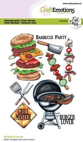 Craft Emotions Clear Stamps A6 - Barbecue Party - Carla Creaties