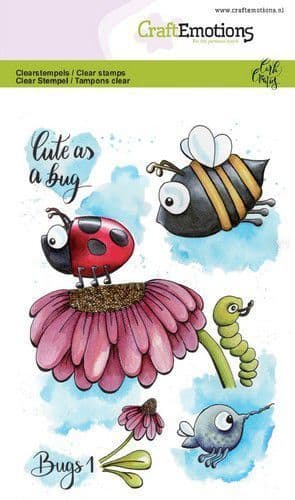 Craft Emotions Clear Stamps A6 - Bugs 1 - Carla Creaties