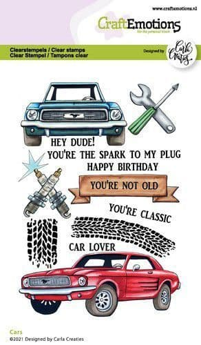 Craft Emotions Clear Stamps A6 - Cars - Carla Creaties