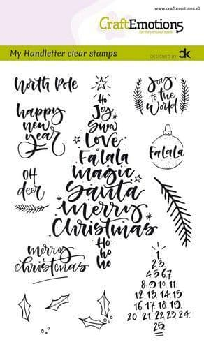 Craft Emotions Clear Stamps A6 - HandletterChristmas 1