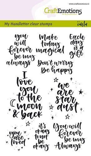 Craft Emotions Clear Stamps A6 - HandletterHappy Feelings