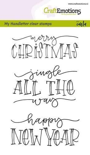 Craft Emotions Clear Stamps A6 - Handletter Jingle All the Way