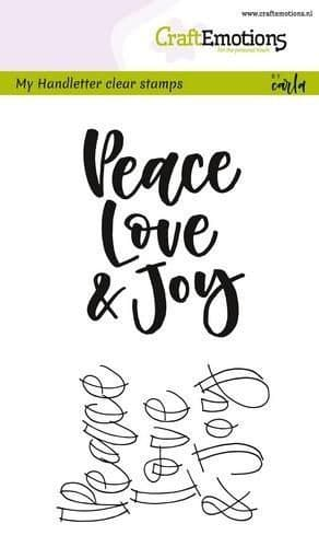 Craft Emotions Clear Stamps A6 - Handletter Peace Love...