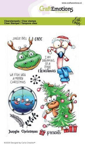 Craft Emotions Clear Stamps A6 - Jungle Christmas - Carla Creaties