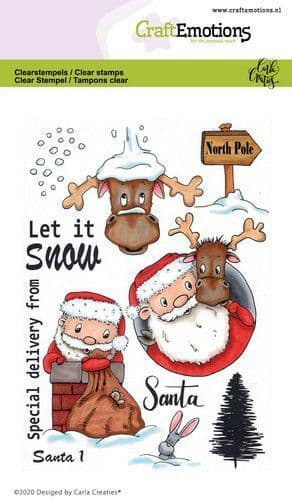 Craft Emotions Clear Stamps A6 - Santa 1 - Carla Creaties