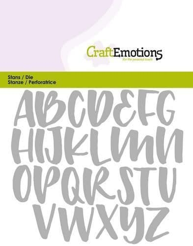 Craft Emotions Die - Alphabet, Handlettering Uppercase Small