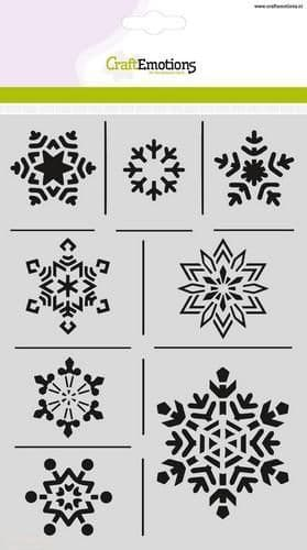 Craft Emotions Mask Stencil - A5 Ice Crystals - 185070/1237