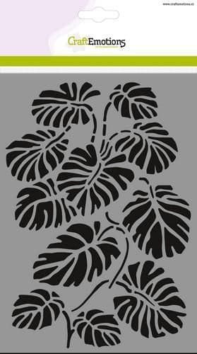 Craft Emotions Mask Stencil - A5 Monstera Leaves - 185070/1260