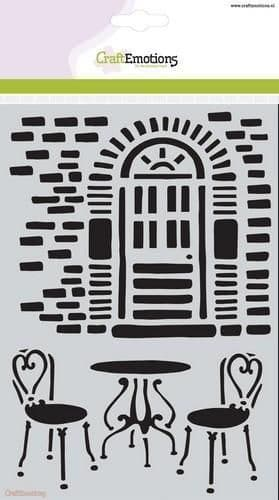Craft Emotions Mask Stencil - A5 Wall with Door - 185070/1092