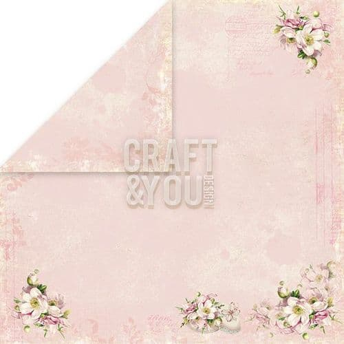 Craft & You 12x12 Scrapbook Paper - Easter Greetings 4 - EG04