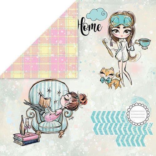 Craft & You 12x12 Scrapbook Paper - Stay at Home 01
