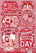 Craftstyle A4 Diecut Topper Sheet - Valentine's Day