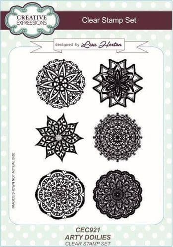 Creative Expressions A5 Clear Stamp Set - Arty Doilies