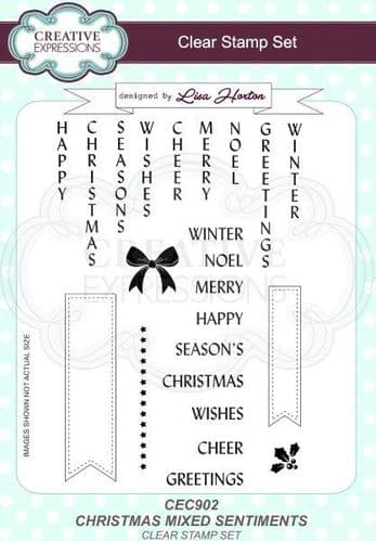 Creative Expressions - A5 Clear Stamp Set Christmas Mixed Sentiments