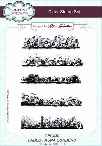 Creative Expressions A5 Clear Stamp Set - Faded Fauna