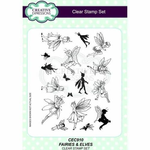 Creative Expressions A5 Clear Stamp Set - Fairies and Elves