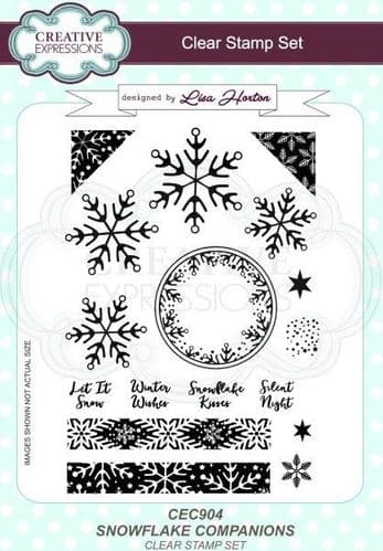 Creative Expressions A5 Clear Stamp Set - Snowflake Companions