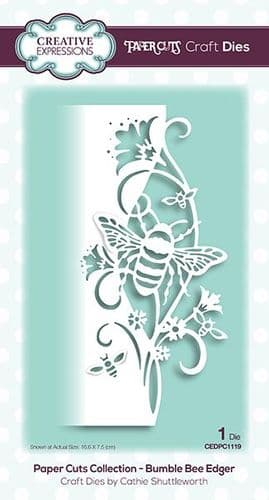 Creative Expressions Craft Dies - Paper Cuts Collection - Bumble Bee - CEDPC1119