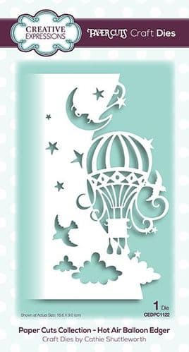 Creative Expressions Craft Dies - Paper Cuts Collection - Hot Air Balloon - CEDPC1122
