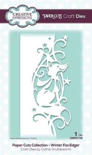 Creative Expressions Craft Dies - Paper Cuts Collection - Winter Fox - CEDPC1128