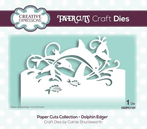 Creative Expressions Craft Dies - Paper Cuts - Dolphin Edger - CEDPC1107