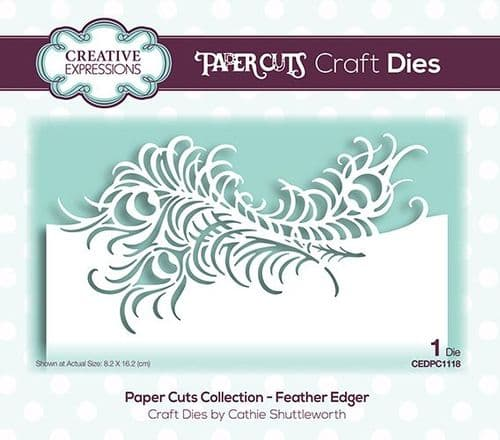 Creative Expressions Craft Dies - Paper Cuts - Feather Edger- CEDPC1118