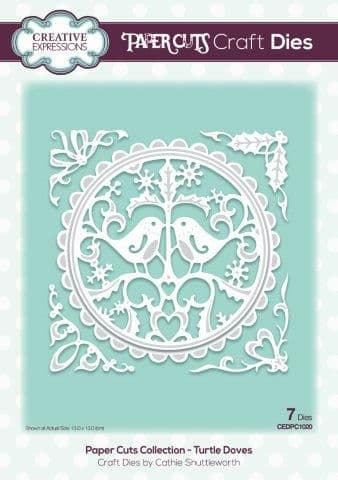 Creative Expressions Craft Dies - Paper Cuts - Turtle Doves- CEDPC1020