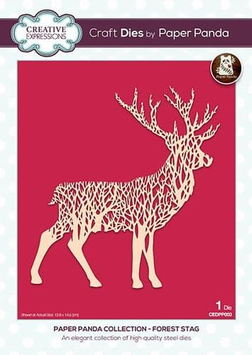 Creative Expressions Craft Dies - Paper Panda - Forest  Stag - CEDPP003