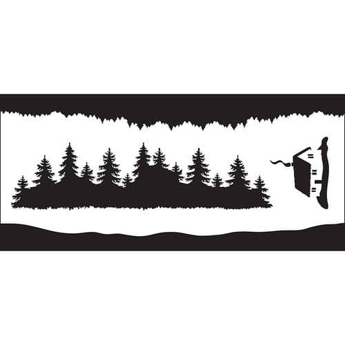 Creative Expressions DL Stencil - Forest Elements