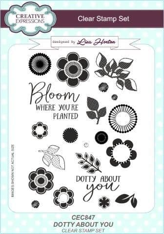 Creative Expressions - Dotty About You A5 Clear Stamp Set