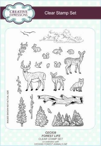 Creative Expressions - Forest Life A5 Clear Stamp Set - CEC838
