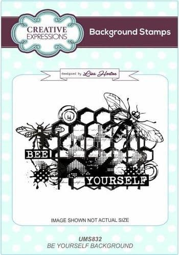 Creative Expressions - Lisa Horton - Bee Yourself Background Stamp - UMS832